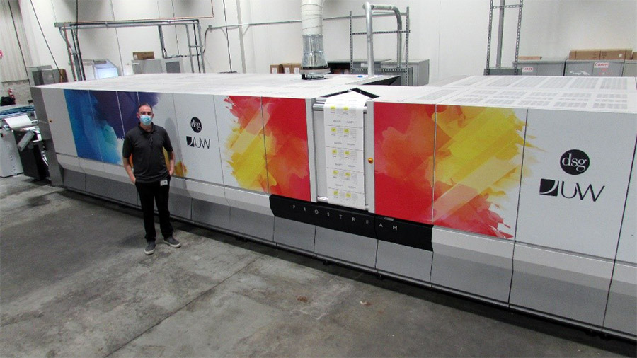 New Canon ProStream 1800 inkjet printing press at DS Graphics/Universal Wilde facility.
