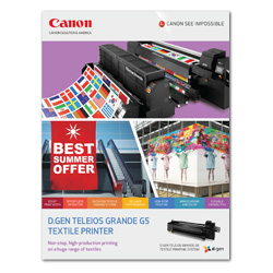 d.gen Teleios Grande G5 Textile Printer Brochure Cover