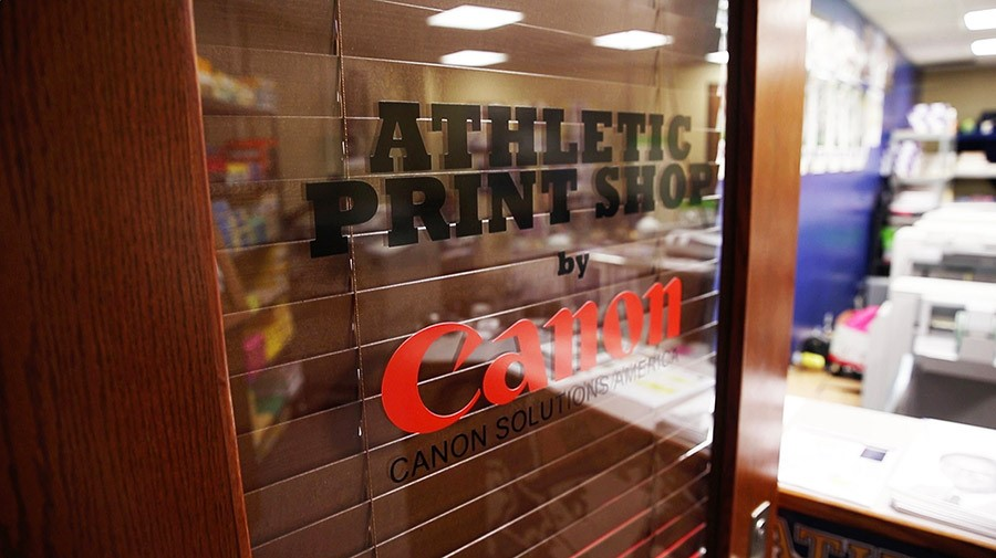 The Canon Solutions America Athletic Print Shop at the University of Notre Dame