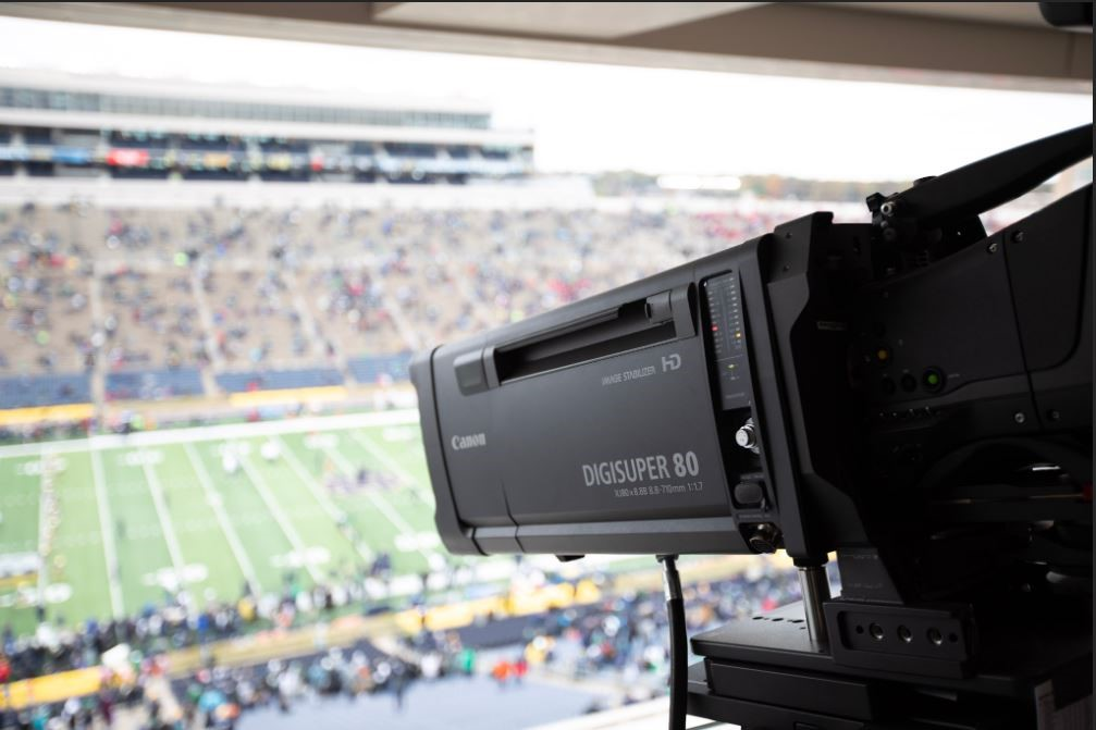 Canon broadcast lens at the University of Notre Dame