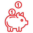 Icon used to represent Savings and Retirement Plans