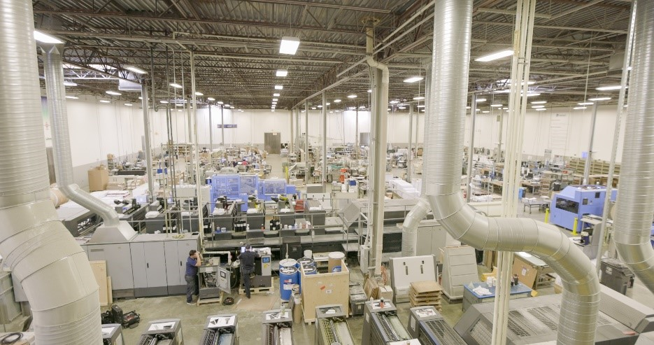 Production floor at Linemark, Inc.