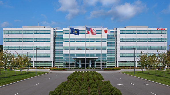Image of the Canon Corporate Headquarters located in Melville, NY