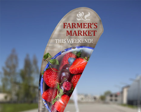 Image of printed farmers market flag
