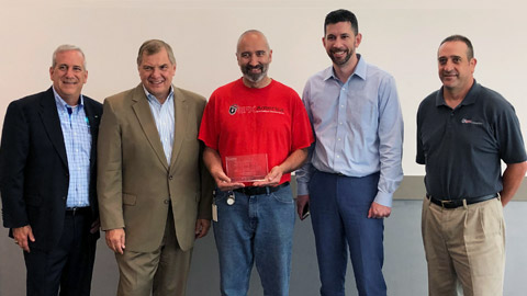 Canon Solutions America President, Peter Kowalczuk, presented SFX America with a plaque to commemorate the milestone of the 5000th imagePRESS installation