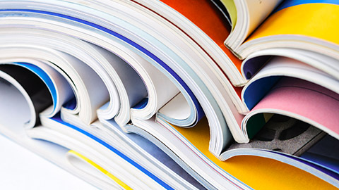 Image of stacked printed books