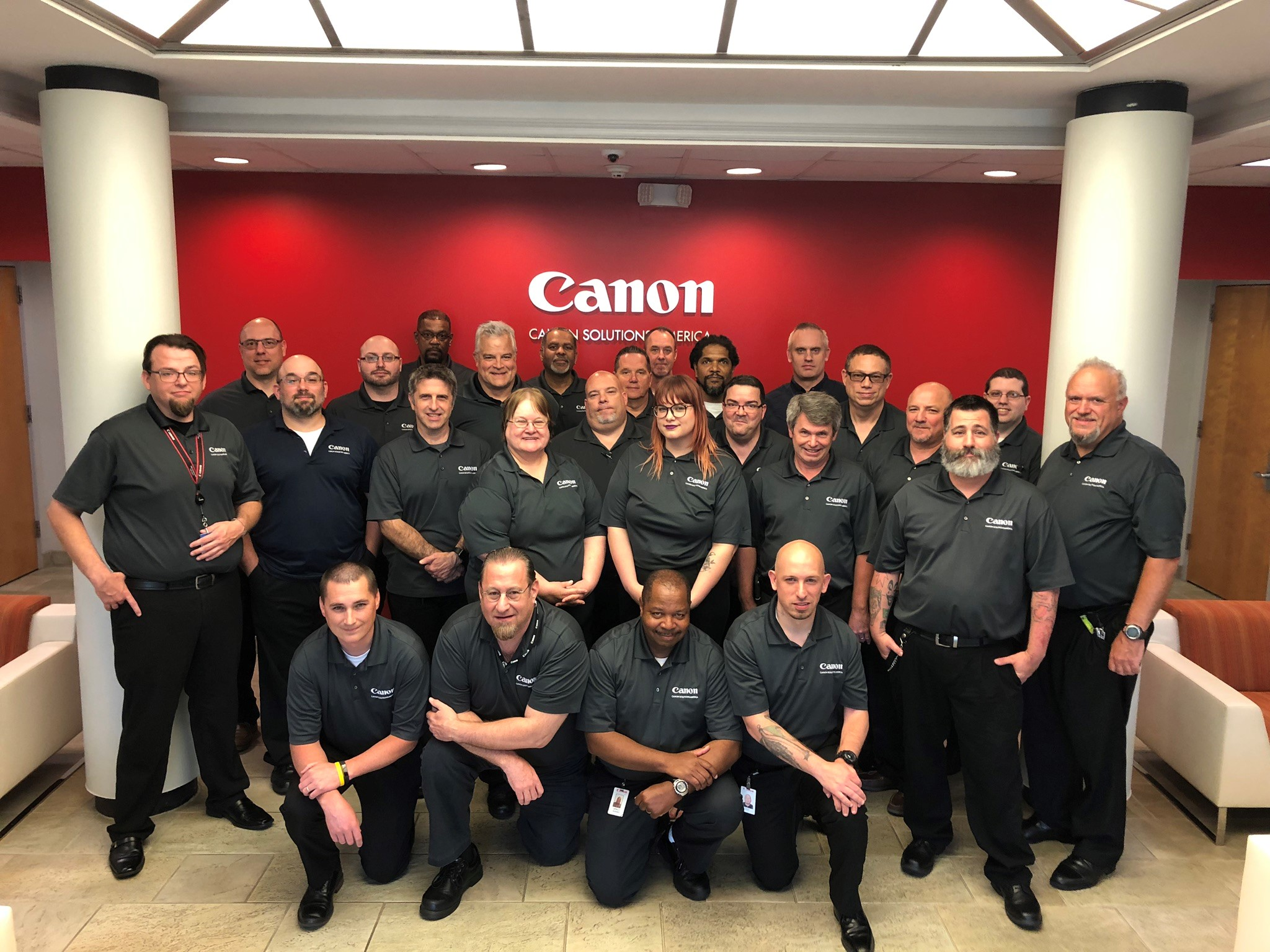 Canon Solutions America Professional Services Team in Burlington, NJ